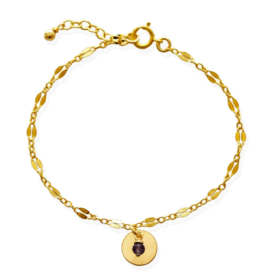 Unity Bracelet - Gold and your choice of Gemstone