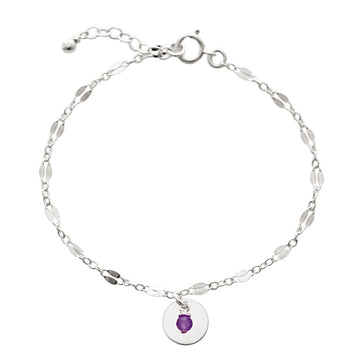 Unity Bracelet - Silver and Amethyst