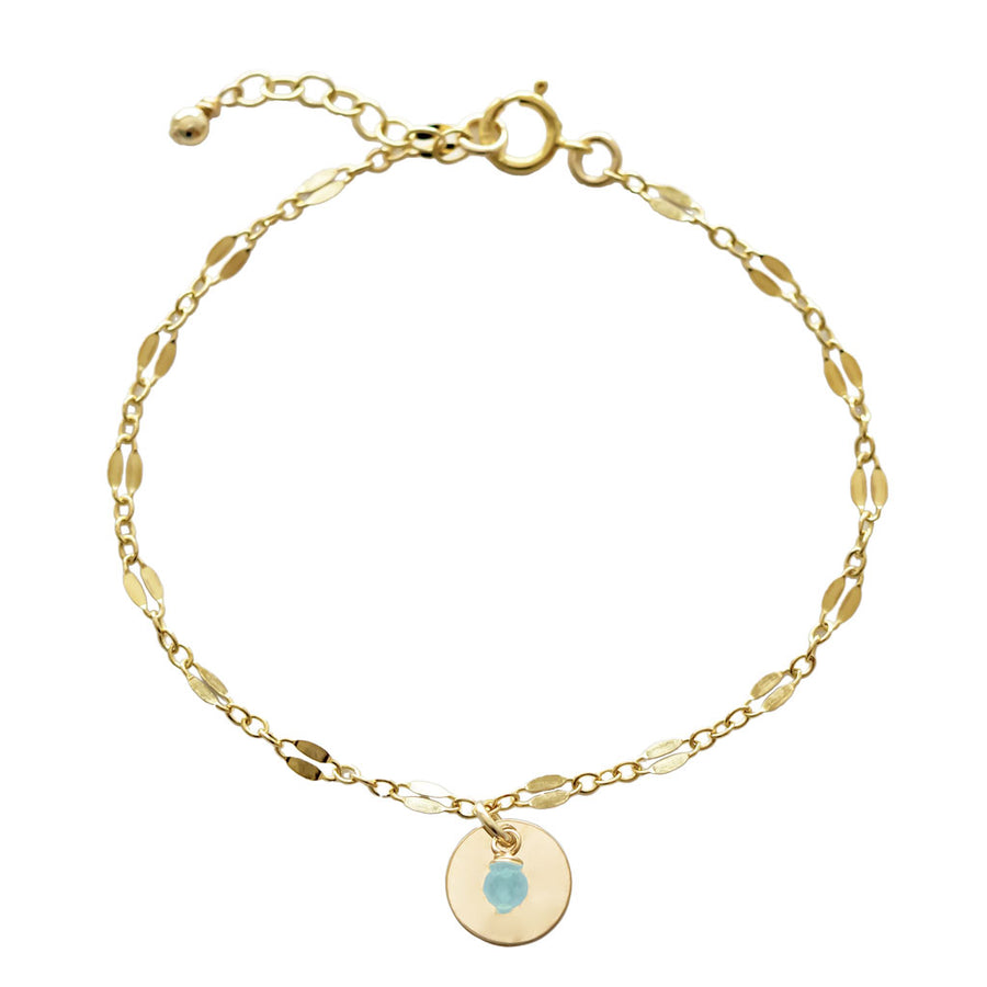 Unity Bracelet - Gold and Amazonite