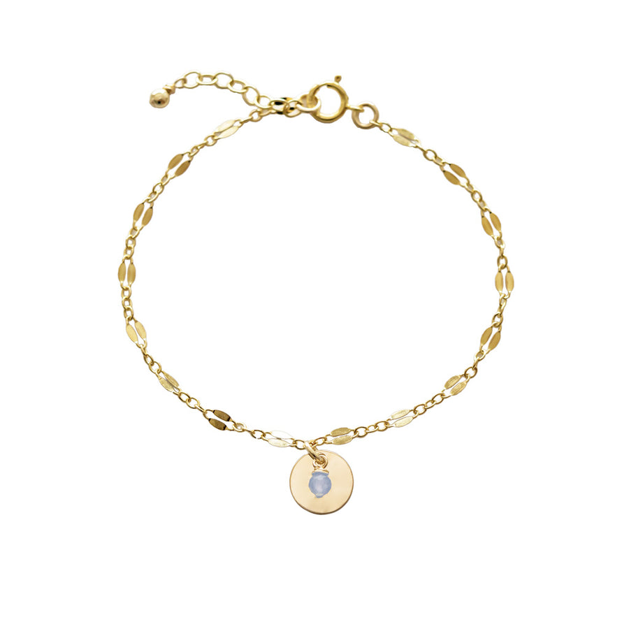 Unity Bracelet - Gold and Aquamarine