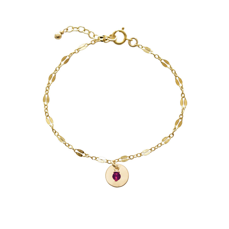 Unity Bracelet - Gold and Red Garnet