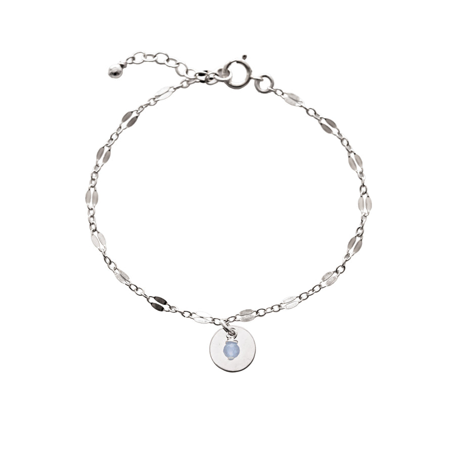 Unity Bracelet - Silver and Aquamarine
