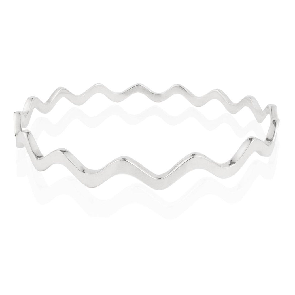 WAVE BANGLE - Sterling Silver