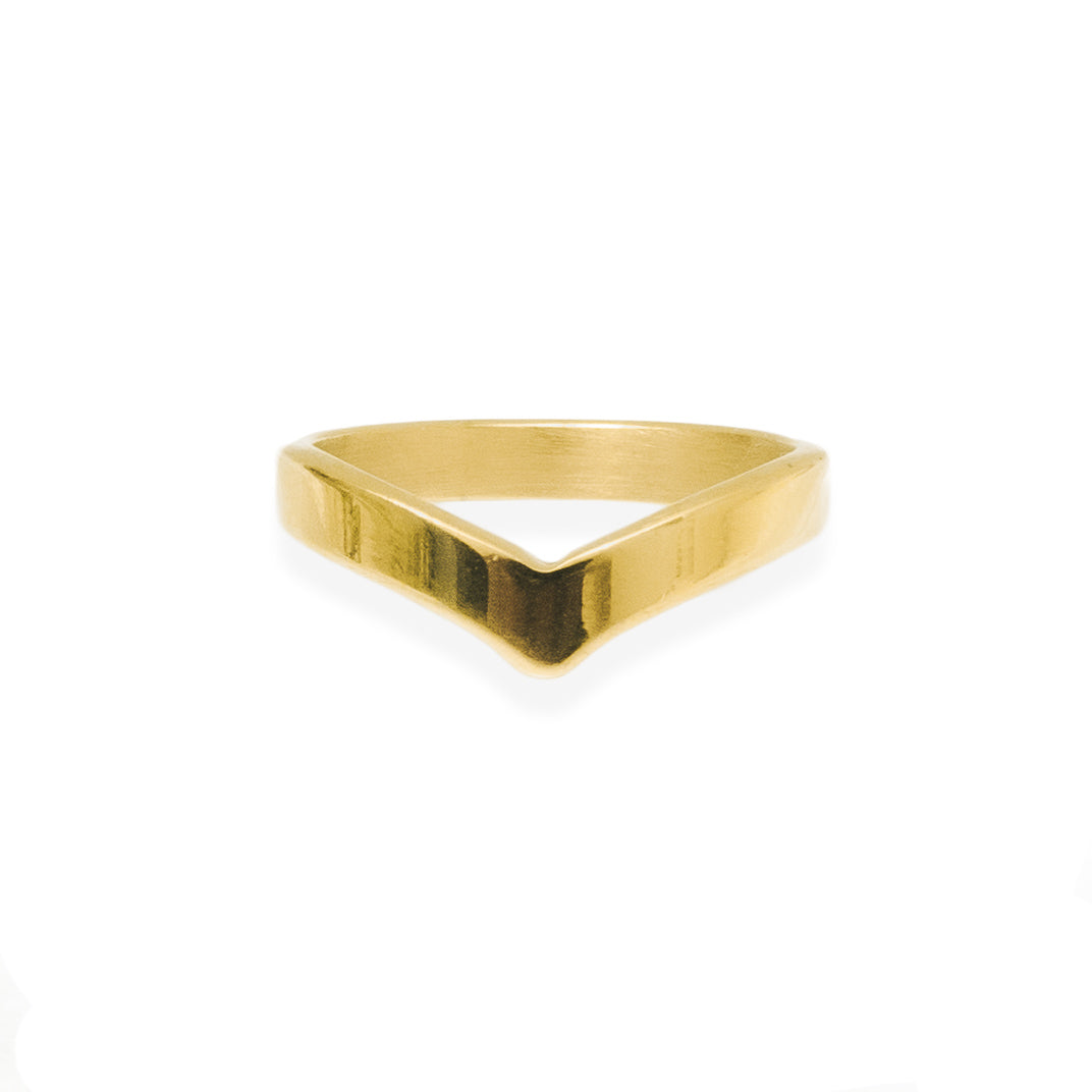Wishbone Ring - Gold