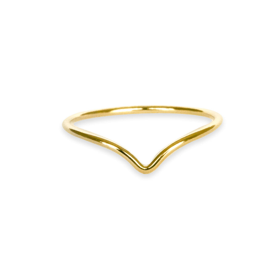 Wishbone Mini Ring - Gold