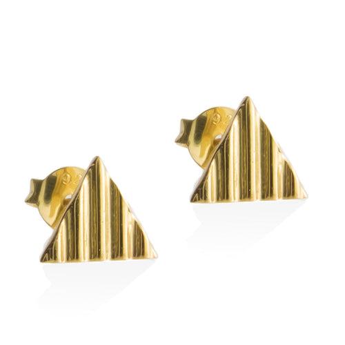 crinkle-triangle-earrings-gold