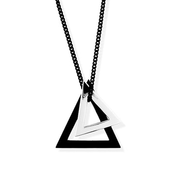 double-deltaglyph pendant black rhodium
