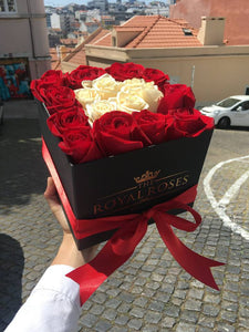 Royal Red & White Box