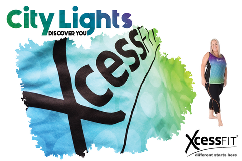 xcessfit city lights graphic