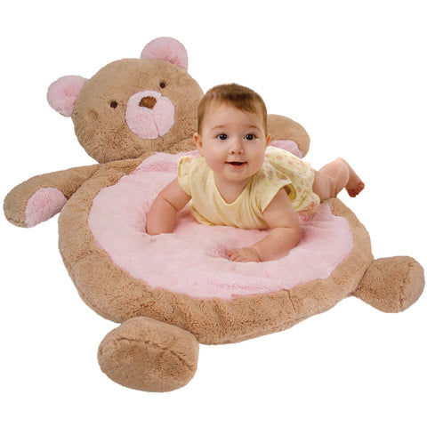 Pink Bear Tummy Time Mat