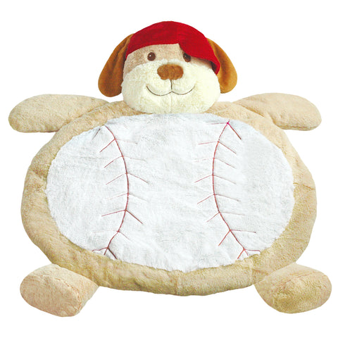Baseball Pup Tummy Time Mat
