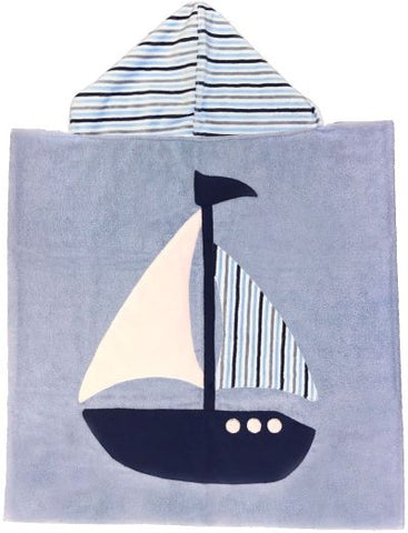 Sailboat Lux Terry Hooded Towel
