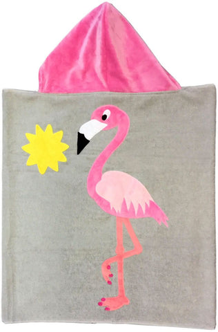 Flamingo Luxe Terry  Hooded Towel