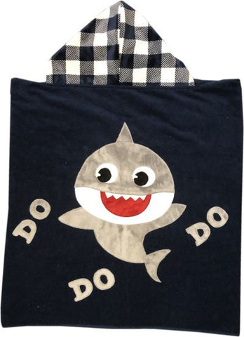 Baby Shark Personalized Lux Terry Hooded Towel
