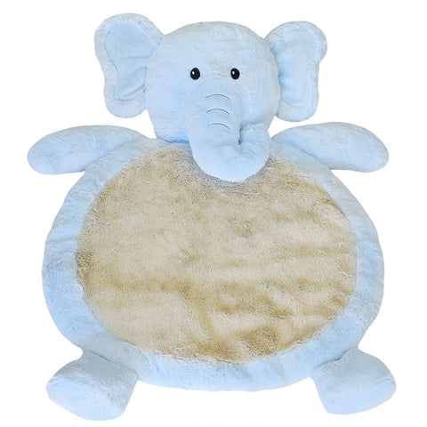 Blue Elephant Tummy Time Mat