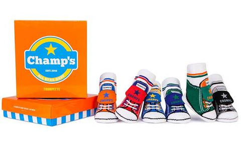 Rad Low Top Champ Socks 6 prs 0-12m