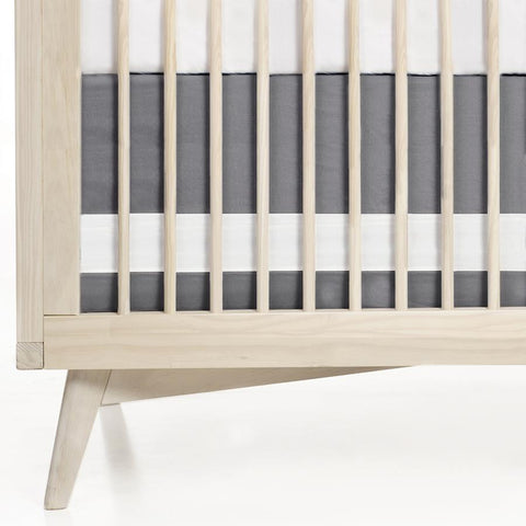 Solid Cotton Crib Skirt with Contrast Panel
