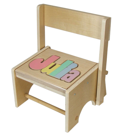 Personalized Birchwood Flip Step Stool