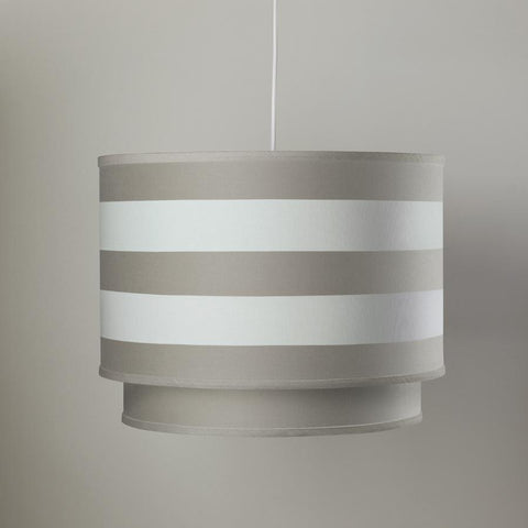 Pewter Stripe Double Layered Cylinder