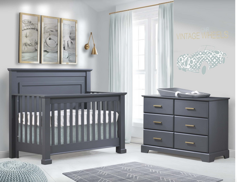Natart Taylor Convertible Crib and Room Collection