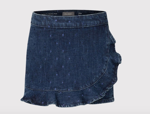 Ruffle Sustainable Denim Skort