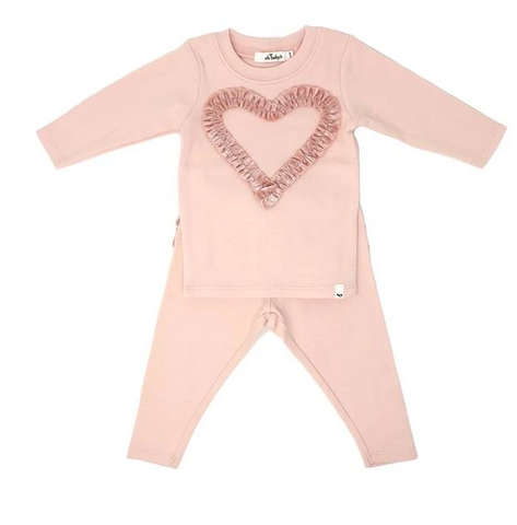 Ruffle Heart Two Piece Set