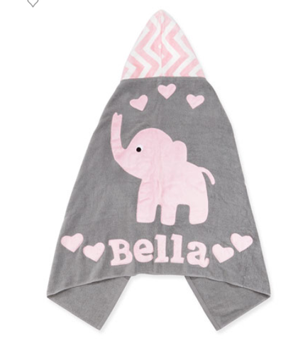Personalized Big Foot Hooded Towel