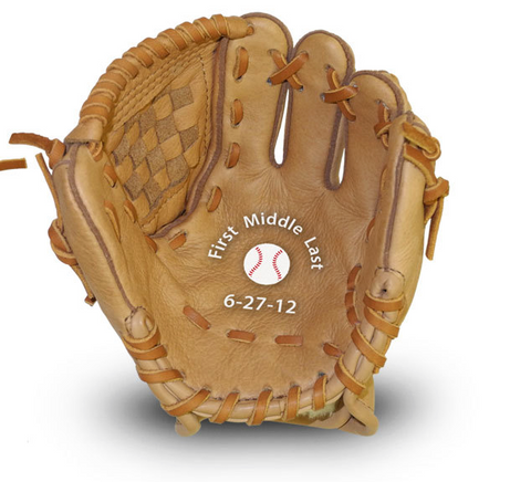 personalized baby baseball glove