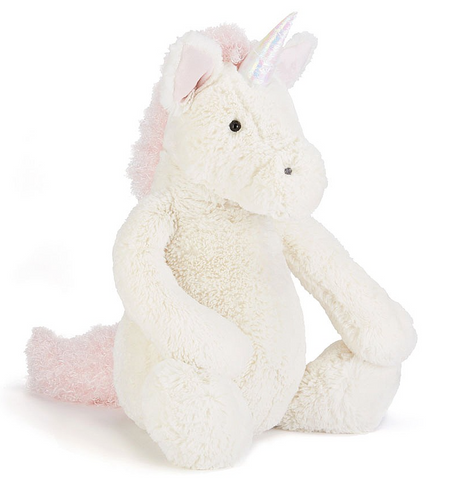 "Bashful Unicorn Plushie — Small (7"" Height) — Jellycat"