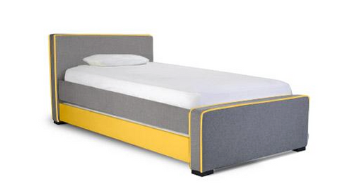 Dorma Twin Bed High Headboard, Low footboardd