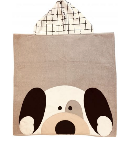 Peek a Boo Puppy Luxe Terry Hooded Towel