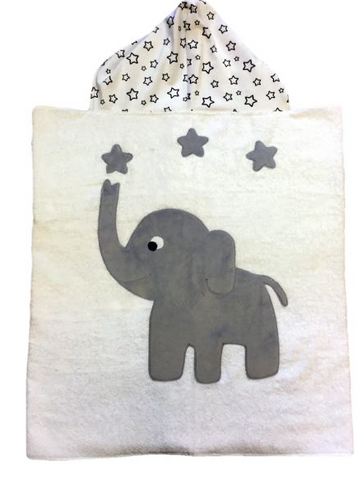 Big Foot Elephant Luxe Hooded Towel for Registry