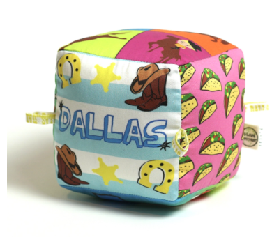 Dallas Organic Cotton Vibrant Art Block