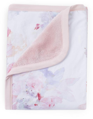 Watercolor Prim Reversible Cuddly Blanket