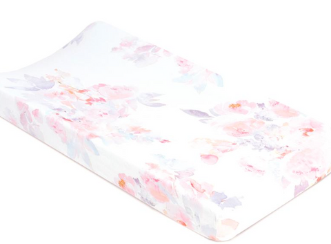 Water Color Prim Soft Romance Crib Sheet
