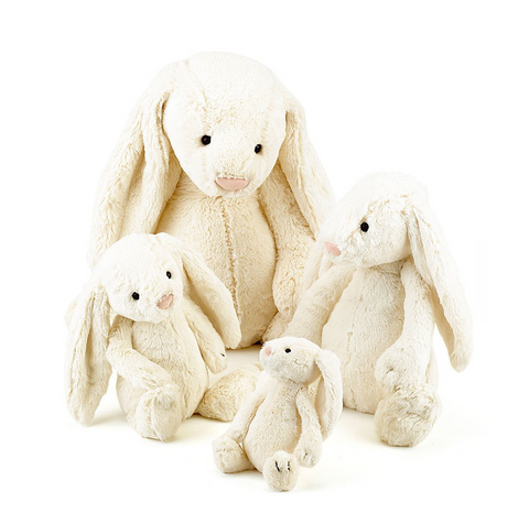 Medium Bashful Bunny Personalized  Cream