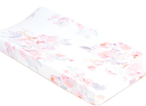 Prim Soft Floral Watercolor Changing Pad Cover