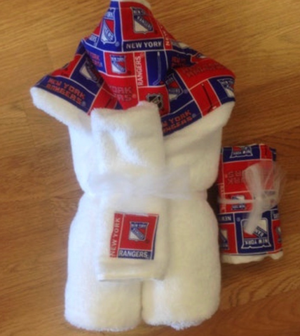 Rangers Luxe Hooded Towel and Washcloth Set Personalized