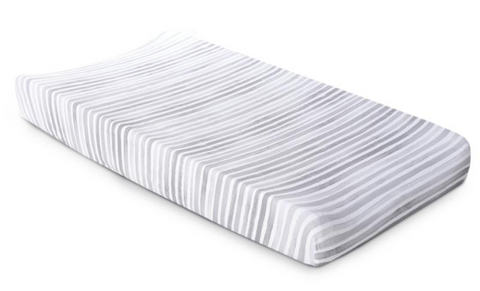 Striped Cotton Jersey Changing Pad Cover