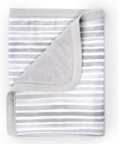 Striped Cuddly Jersey  Reversible Blanket
