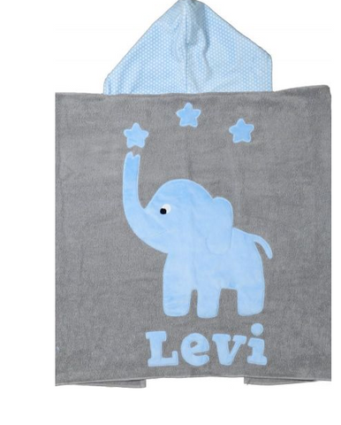 Lux Terry personalized hooded towel  name to follow