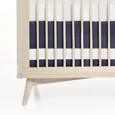 Solid Cotton Crib Skirt with Contrast Band