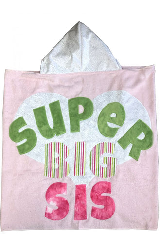Luxe Terry Super Big Sister Hooded Towel