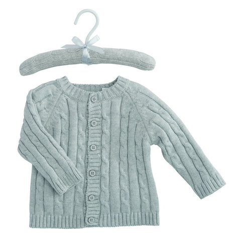 Cotton Cable Sweater Cardigan and Hat Set