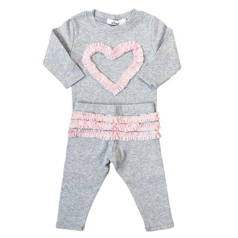 Ruffle Heart 2 pc Set