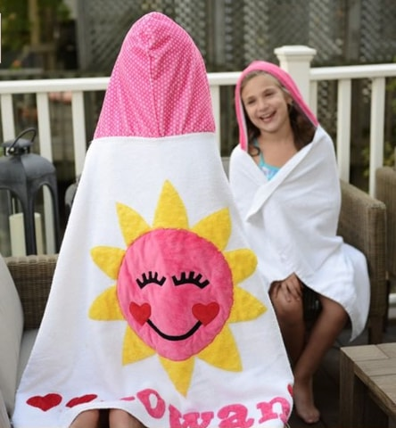 Luxe Terry You are My Sunshine Hooded Towel
