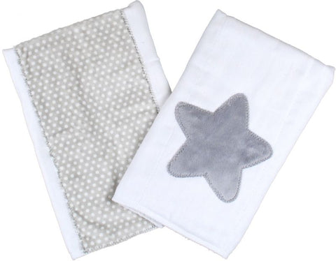 Star Set of Burp Cloths