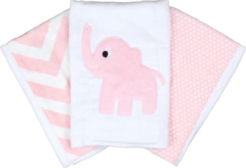 Pink Elephant Tummy Time Mat