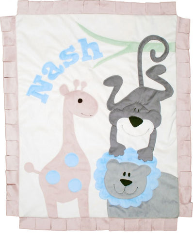 Personalized Wild Ones Cuddly Reversible Blanket
