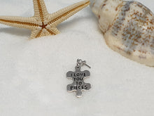 "107 Zilveren hanger ""i love you to pieces"""